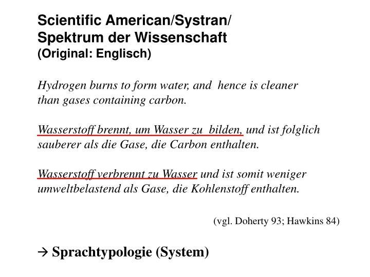 Scientific American/Systran/