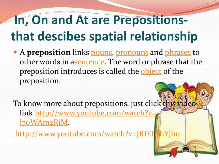 In, On and At are Prepositions-