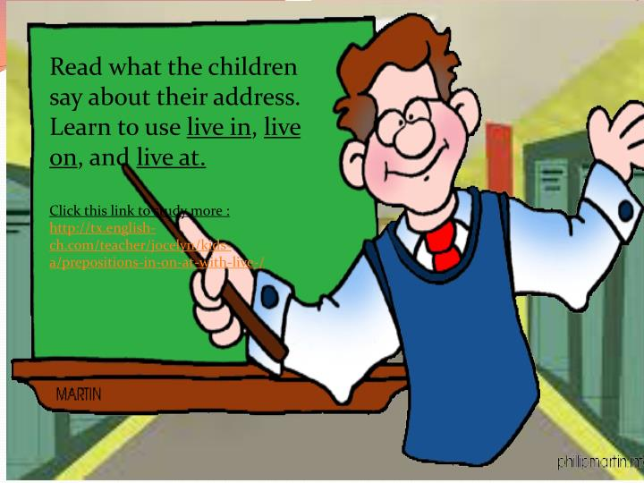 Read what the children say about their address. Learn to use