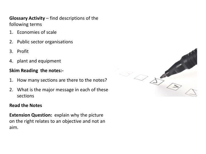 Glossary Activity
