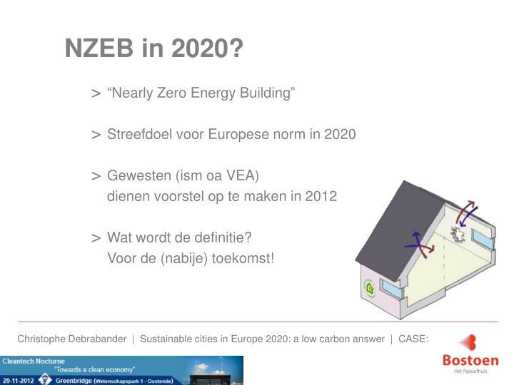 NZEB in 2020?