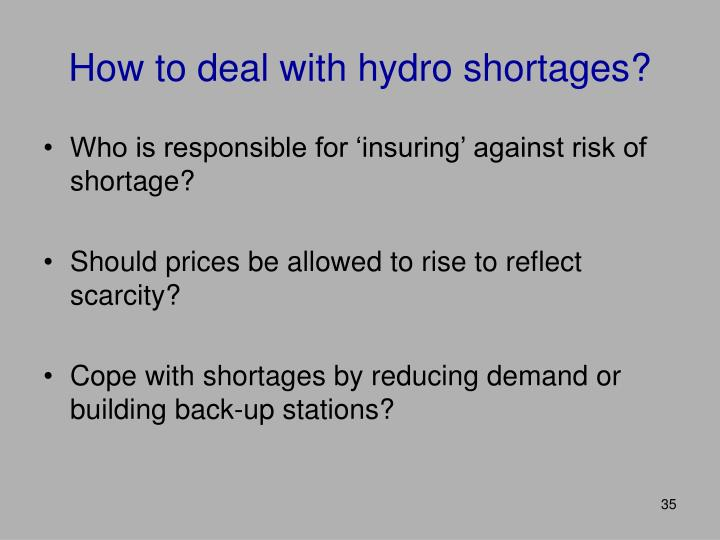 How to deal with hydro shortages?