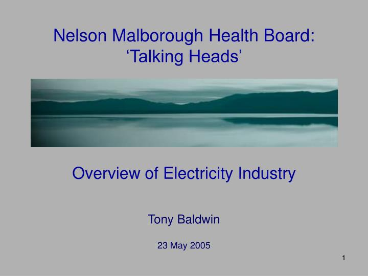 Nelson malborough health board talking heads