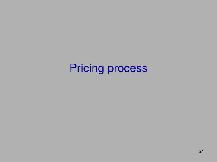 Pricing process