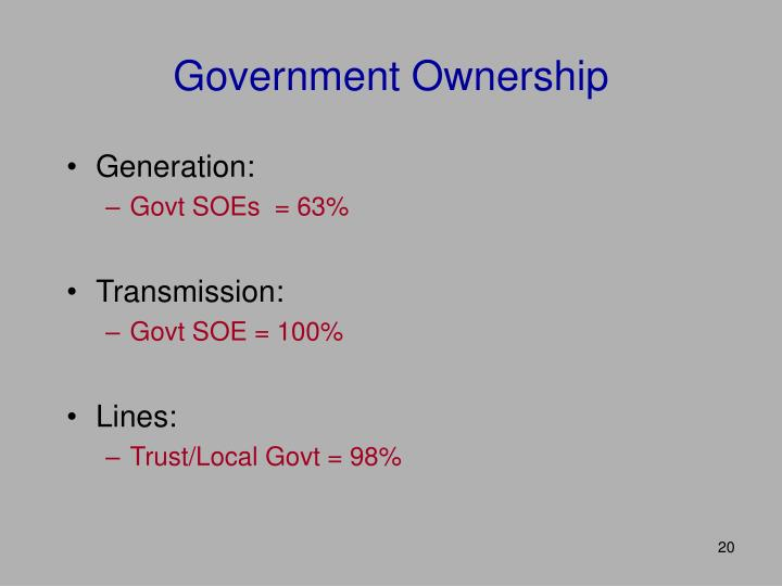 Government Ownership