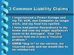 3 common liability claims