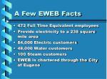 a few eweb facts