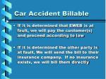 car accident billable