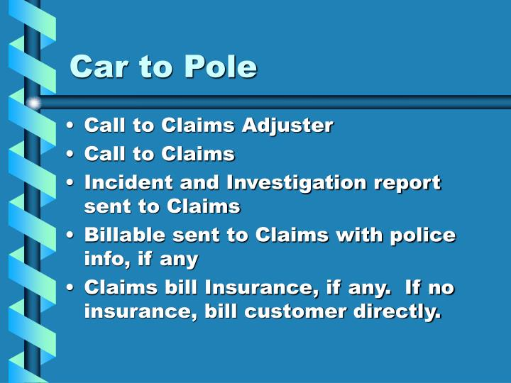 Car to Pole