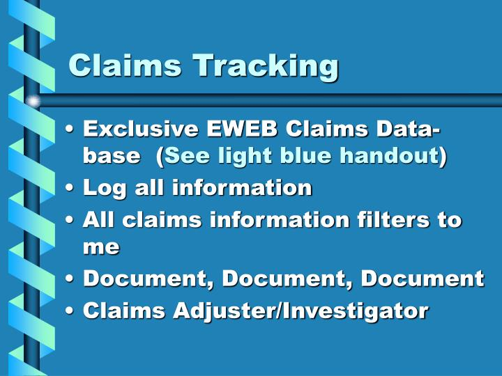 Claims Tracking