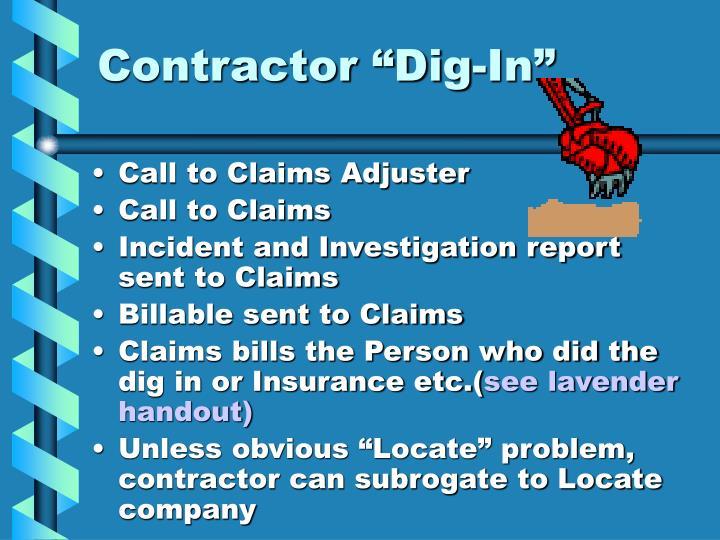 """Contractor """"Dig-In"""""""