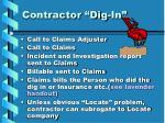 contractor dig in