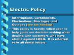 electric policy