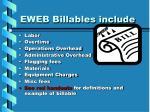 eweb billables include