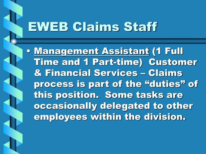 EWEB Claims Staff