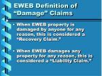 eweb definition of damage claims
