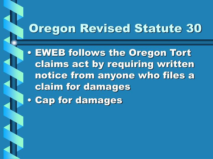 Oregon Revised Statute 30