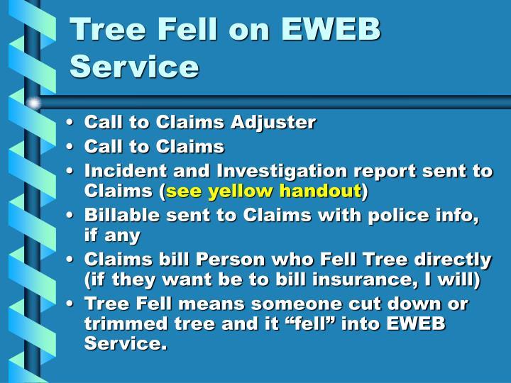 Tree Fell on EWEB Service