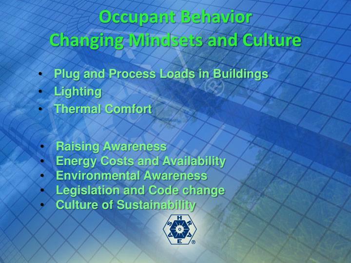 Occupant Behavior