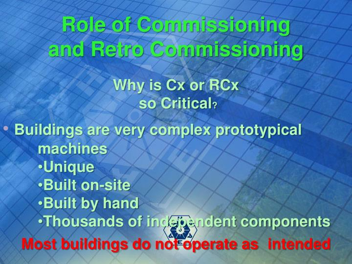 Role of Commissioning