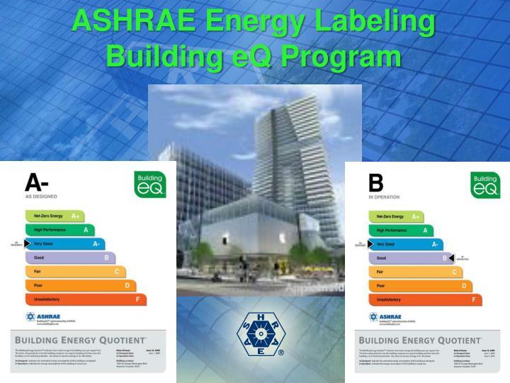 ASHRAE Energy Labeling