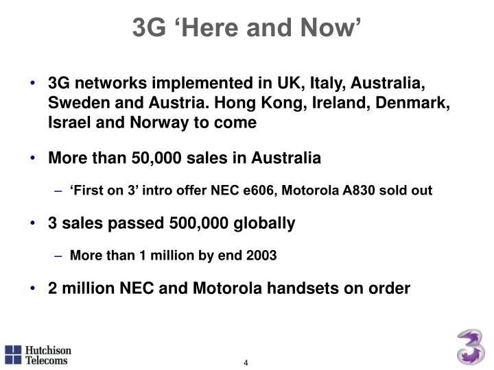 3G 'Here and Now'