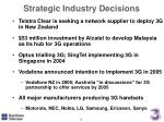strategic industry decisions