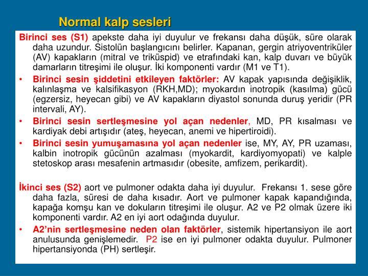 Normal kalp sesleri