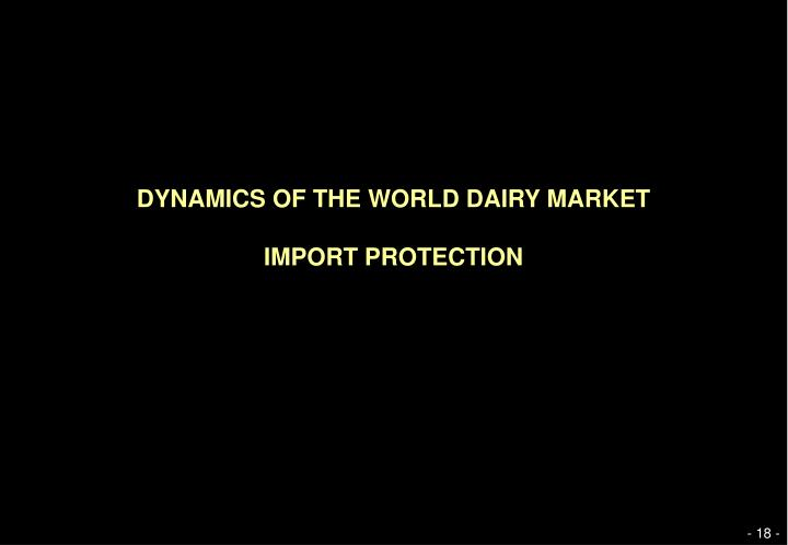 DYNAMICS OF THE WORLD DAIRY MARKET