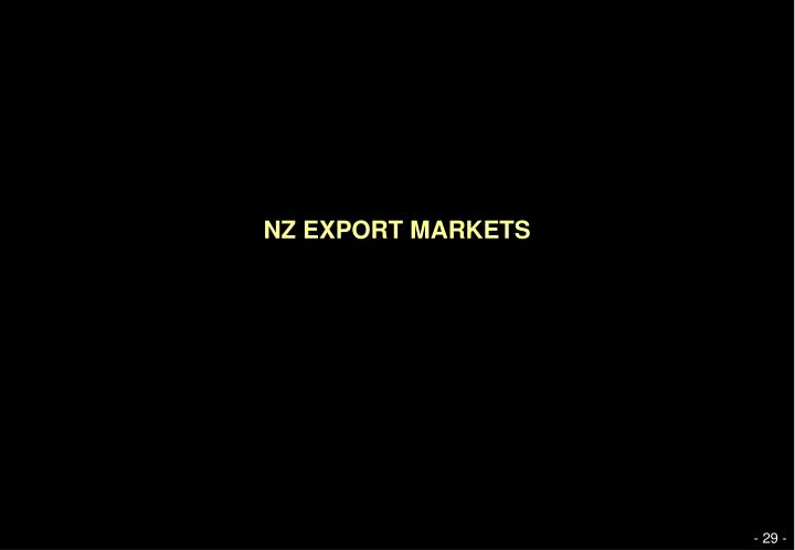 NZ EXPORT MARKETS