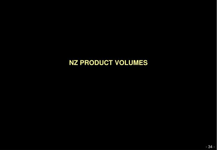NZ PRODUCT VOLUMES