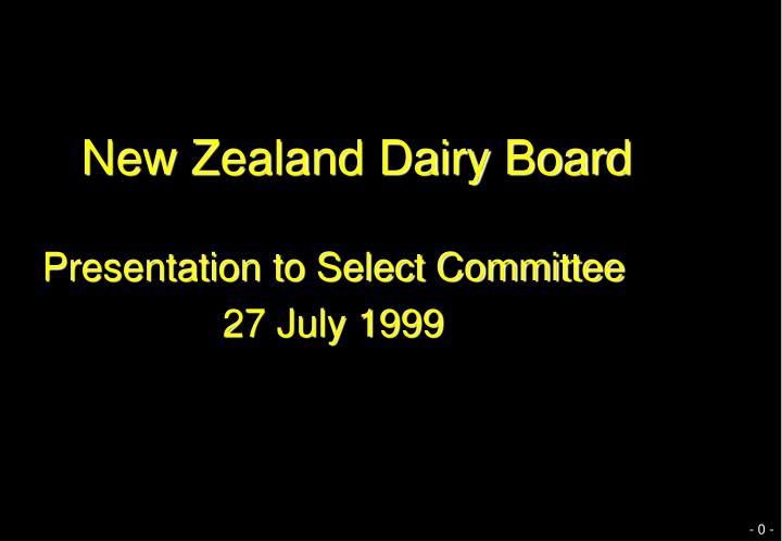 New Zealand Dairy Board