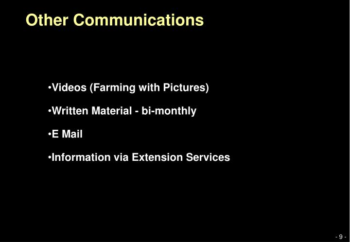 Other Communications