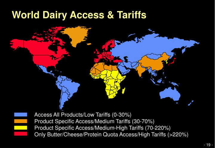 World Dairy Access & Tariffs