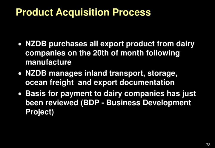 Product Acquisition Process