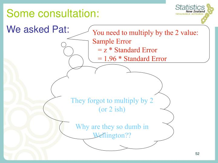 Some consultation: