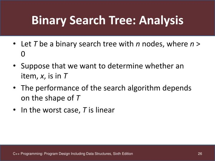 Binary Search Tree: Analysis