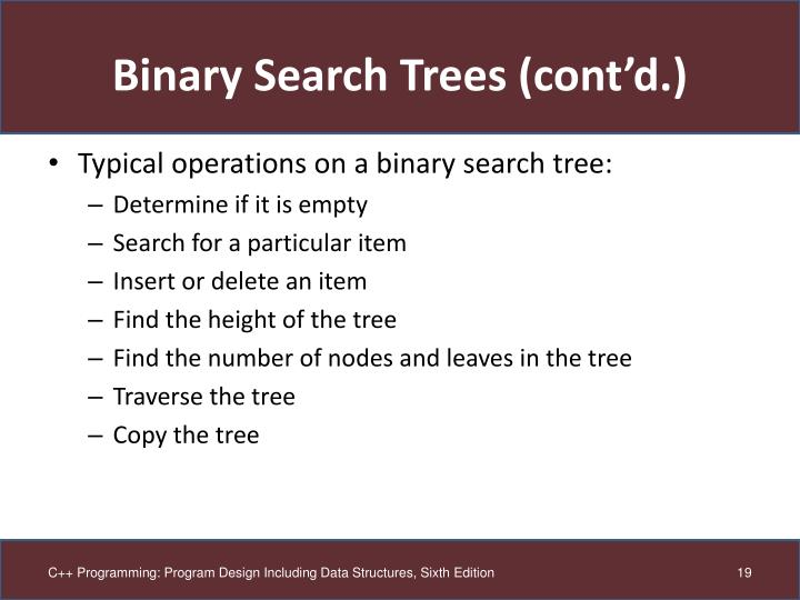 Binary Search Trees (cont'd.)
