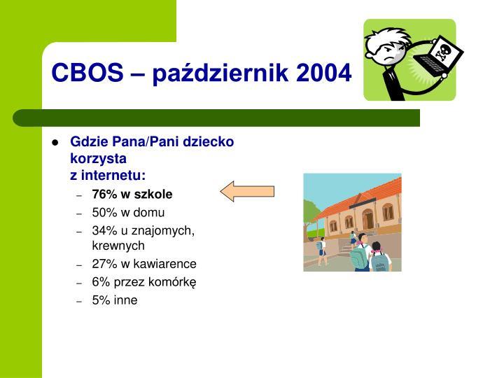 CBOS – październik 2004