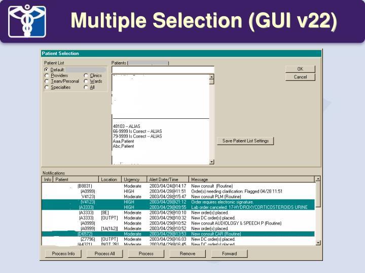 Multiple Selection (GUI v22)
