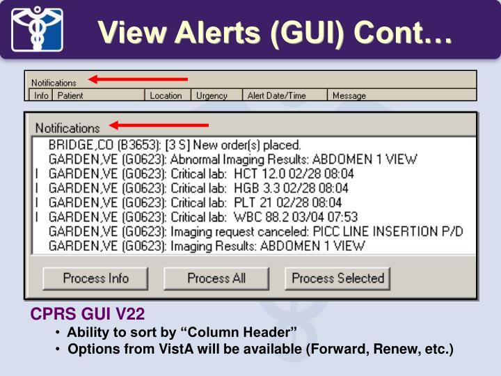 CPRS GUI V22