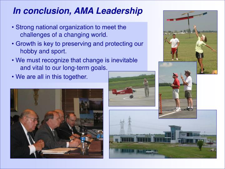 In conclusion, AMA Leadership