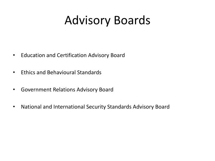 Advisory Boards