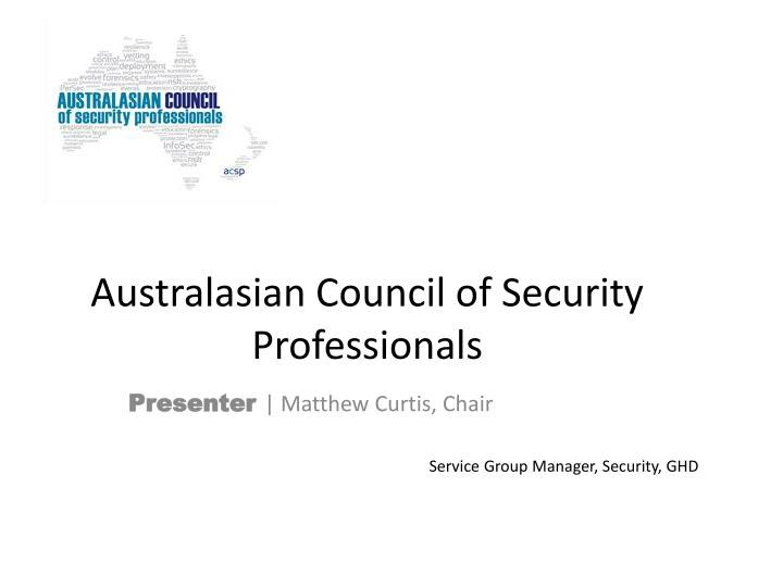 Australasian Council of Security Professionals
