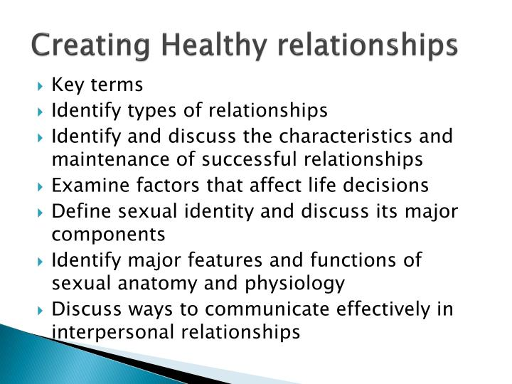 Creating Healthy relationships