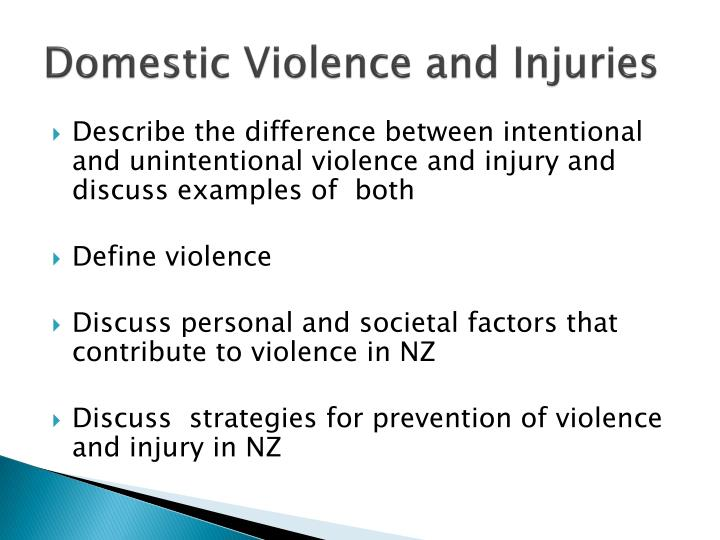 Domestic Violence and Injuries