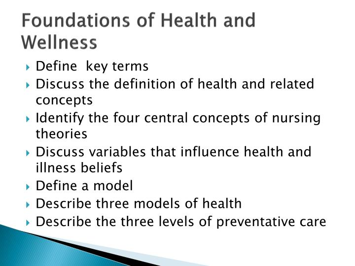 Foundations of Health and Wellness