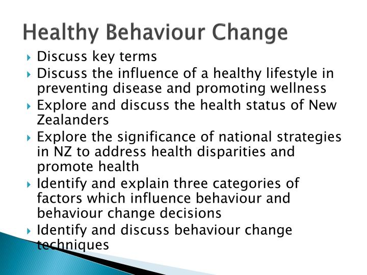 Healthy Behaviour Change