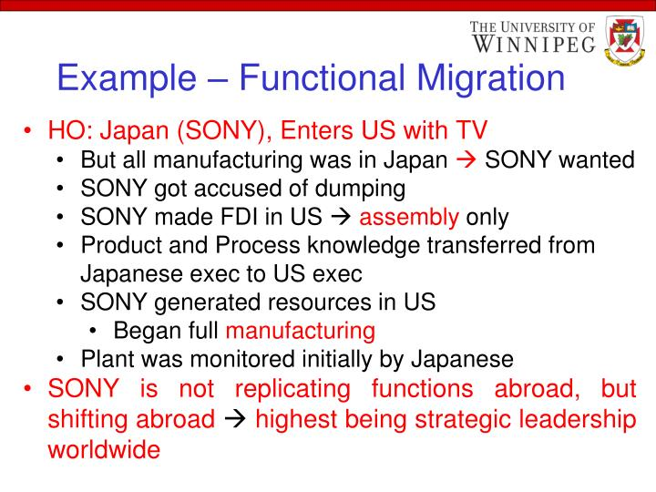 Example – Functional Migration
