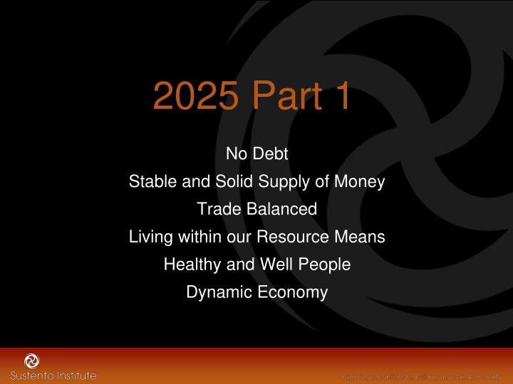 2025 Part 1